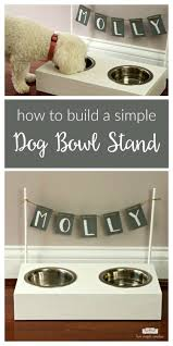 build your own dog bowl stand follow this easy diy to create a raised wooden