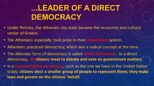 athenian form of government pericles and the golden age of athens ppt video online download