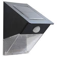 Defiant 180° White Solar Powered Motion LED Security Light With Led Security Light Solar