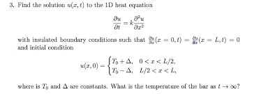 find the solution u z t to the 1d heat equation