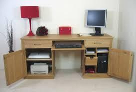 mobel oak hidden twin. Mobel Oak Large Hidden Office Twin Pedestal Desk_image1 S