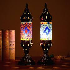 turkish table lamps retro style glass mosaic table lamps study bedroom home art decor turkish table turkish table lamps