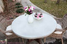 diy round concrete table top the