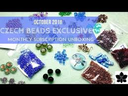 october 2018 czech beads exclusive box monthly bead and jewelry making subscription unboxing