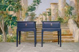 pair of stag bedside tables hague