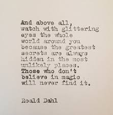 Roald Dahl Quotes Cool Amazon Roald Dahl Magic Quote Hand Typed On Vintage Typewriter