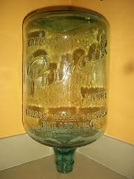 antique vintage drink purock water philadelphia 5 gallon glass water bottle
