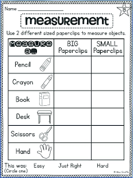 Measurement Worksheets For Grade All Download And Measuring Objects ...