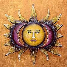 steel wall art u0027beloved sun u0027 hand made sun and moon steel wall on