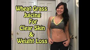 wheat gr juicing for clear skin