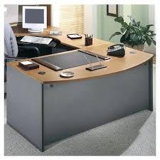 l shaped executive desk bush business series c right l shape executive desk in natural cherry