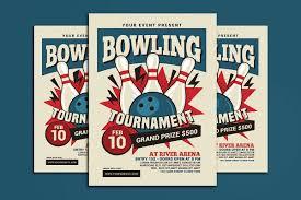 bow street flyers bowling tournament flyer by muhamadiqba design bundles
