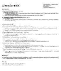Gallery Of Harvard Resume Template Resume Style Examples Best