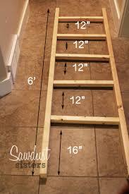 Diy Blanket Ladder Diy Blanket Ladder Sawdust Sisters