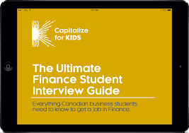 the ultimate finance student interview guide capitalize for kids the guide includes a comprehensive list of questions on the market personal fit and industry knowledge it also includes over 100 detailed technical