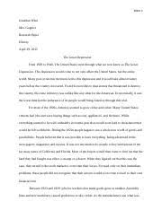 the great depression study resources 8 pages research paper