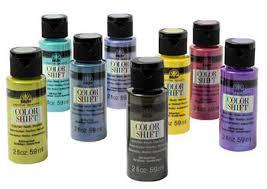 Folk Art Paint Chart Plaid Folkart Color Shift Metallic Acrylic Paint