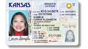 Driver's Kansas Across Down Services License