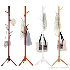 Wooden Coat Rack Stand Adorable Solid Wood Coat Rack Tripod Stand Rack Tree Living Room Coat Hanger