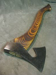viking adze. vintage viking style bearded hatchet axe hammer polished \u0026 blued custom handle adze
