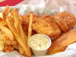 beer batter fish and y chips with
