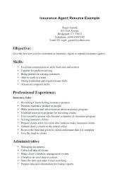 Insurance Resume Objective Insurance Broker Resume Objective Samples