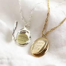personalised engraved oval locket