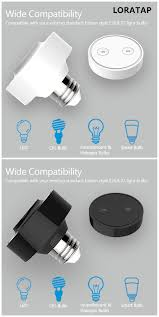 How To Make Remote Control Light Switch Loratap Focus On Wireless Light Switch Bulb Adapter Product