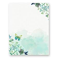 Letters Stationery Amazon Com 100 Stationery Paper Cute Floral Designs For Writing