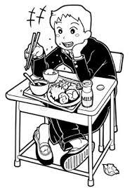 食事のマナーが悪い 給食イラスト集 給食だよりなどに使える