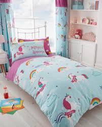 unicorn fairytale duvet cover sets reversible bedding sets fitted sheet sets gc