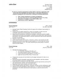 Stunning Sample Resume For Property Manager About Property
