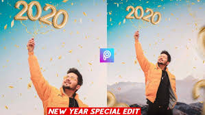 new year 2020 editing background