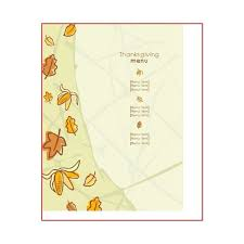 Ms Word Menu Templates Great Thanksgiving Day Menu Templates To Entice And Enthrall