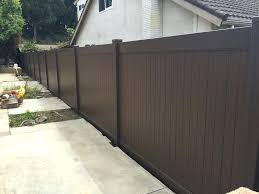 brown vinyl fence panels. Brown Vinyl Fence Chestnut Dark Panels . L