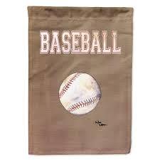 polyester baseball 2 sided 2 ply garden flag