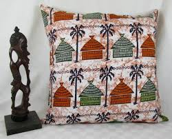 african huts wax print print pillow cover african home decor african textile