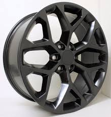 All Chevy chevy 22 inch rims : Chevy Style Satin Black Snowflake 22 inch Wheels