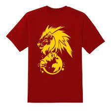 Adam Lionheart Yellow On Red T-Shirt – Abuja Solutions