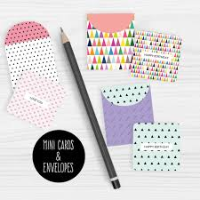 Free Printable Note Cards Mini Note Cards And Envelopes Set Of 9 Mini Cards Free Printable