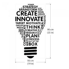 idea light bulb word cloud vinyl wall