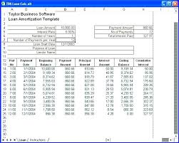 Loan Amortization Schedule Excel Template Simple Table Interest 2007