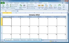 microsoft excel calendar how to create a calendar in excel