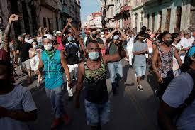 After historic protests, defiant Cubans ...