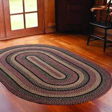 ihf braided area rug oval floormat blackberry in plum black cream jute 20