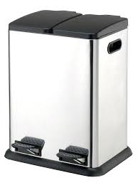 13 gallon trash can for kitchen organize it all square step on recycling bin 13 gallon
