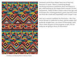 Textile Design Tutorial From The Textile Design Lab Complex Geometrics Design