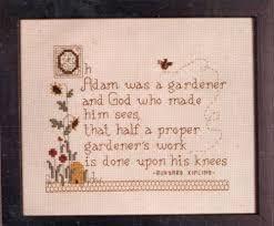 Diane Arthurs Cross Stitch Designs Gardeners Work 1389 Counted Cross Stitch Poem Nip Diane