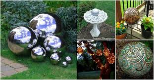 Decorating Bowling Balls Marbles Cool 32 Gorgeous DIY Gazing Balls To Decorate Your Garden DIY Crafts