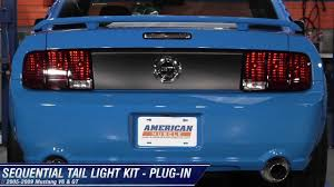 mustang raxiom sequential tail light kit plug in 05 09 all review you